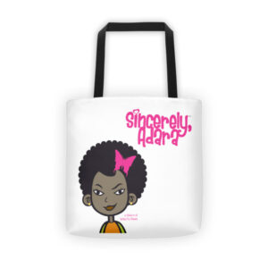 Sincerely, Adara™ Tote Bag by Butta.Fly Wears